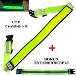 Green LED Reflective Belt web1